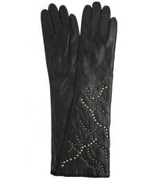 Кожаные перчатки с шерстяной подкладкой Eleganzza