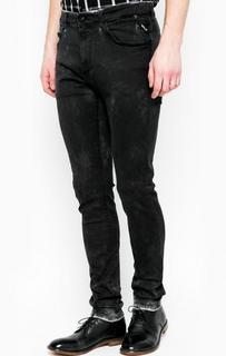 Серые джинсы скинни Replay