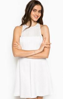 Короткое белое платье из вискозы Kocca
