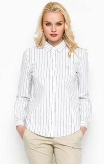 Хлопковая рубашка в полоску Armani Jeans