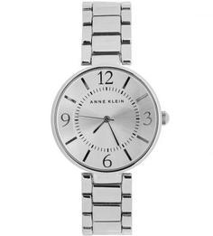 Часы круглой формы с металлическим браслетом Anne Klein