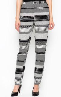 Зауженные брюки в полоску Ichi