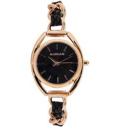 Кварцевые часы с кожаным браслетом Morgan