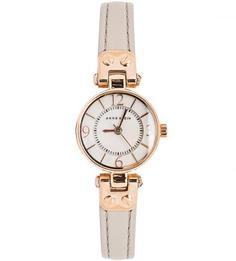 Часы с серым кожаным ремешком Anne Klein