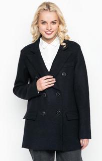 Темно-синее двубортное пальто из шерсти Marc Opolo