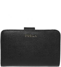 Кожаный кошелек с застежкой на кнопку Furla