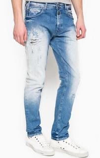 Рваные джинсы с заплатами Replay