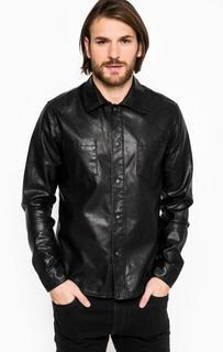 Черная приталенная рубашка Marciano Guess