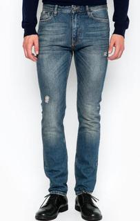 Зауженные джинсы с потертостями и заломами Iceberg