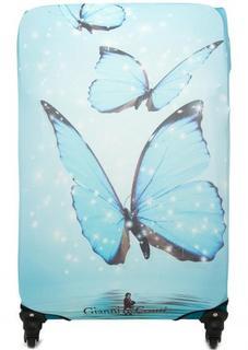 Чехол на чемодан голубого цвета Gianni Conti