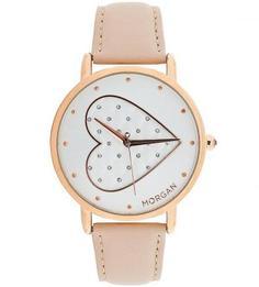 Часы круглой формы с кожаным браслетом Morgan