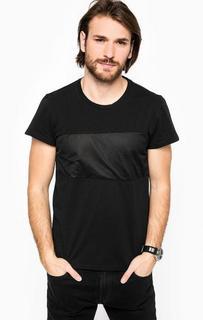 Черная футболка с декоративной вставкой Marciano Guess