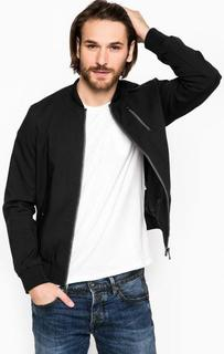 Хлопковая куртка черного цвета Marciano Guess