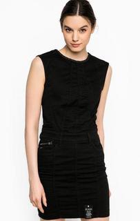 Черное платье из хлопка G Star RAW