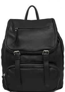 Черный рюкзак из натуральной кожи Bruno Rossi