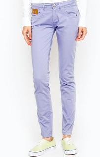 Сиреневые брюки из хлопка La Martina
