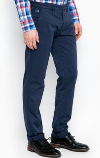 Синие брюки из хлопка La Martina