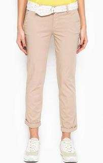 Бежевые брюки из хлопка Liu Jo