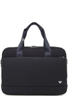 Синяя сумка с отделением для ноутбука Armani Jeans