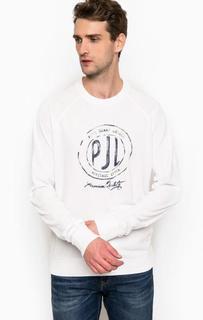 Белый свитшот из хлопка Pepe Jeans