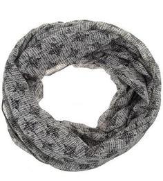 Серый шарф-хомут из полиэстера More & More