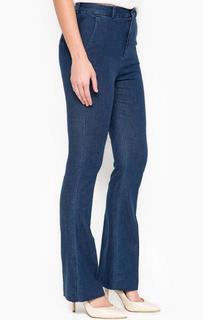 Расклешенные синие брюки Drykorn