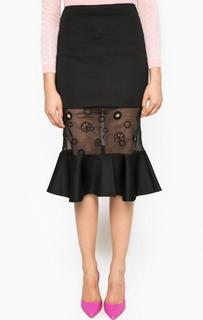Черная юбка с полупрозрачной вставкой Miss Sixty
