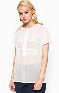 Полупрозрачная блуза с короткими рукавами Ichi