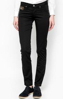 Зауженные черные брюки La Martina