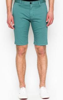 Хлопковые шорты бирюзового цвета Strellson