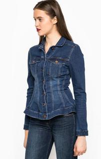 Синяя куртка из денима на болтах Miss Sixty