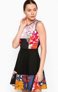 Короткое платье с уникальным узором Pinko