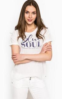 Белая футболка с удлиненной спинкой Pepe Jeans