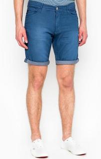 Короткие хлопковые шорты синего цвета Blend
