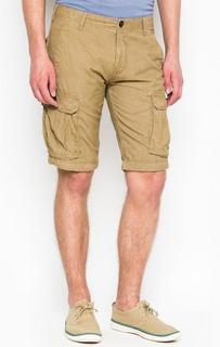 Бежевые хлопковые шорты с карманами Blend