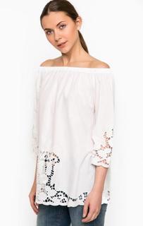 Блуза из хлопка с открытыми плечами Liu Jo