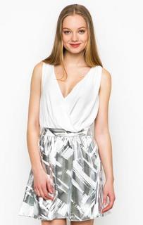Короткое платье с серебристой юбкой Relish