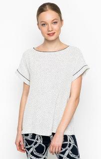 Блуза в горошек с круглым вырезом Marina Yachting