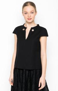 Черная однотонная блуза Marina Yachting