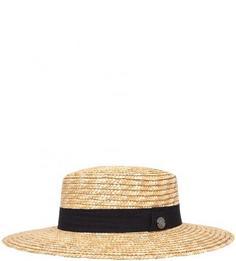 Соломенная шляпа бежевого цвета R.Mountain