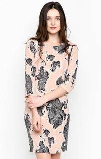 Бежевое платье средней длины Ichi