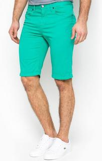 Бирюзовые хлопковые шорты с карманами 18 Crr81 Cerruti