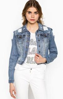 Джинсовая куртка с потертостями Silvian Heach