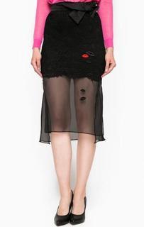 Черная юбка с нашивками Miss Sixty