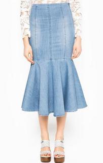 Джинсовая юбка средней длины Miss Sixty