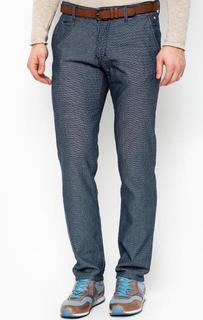 Хлопковые брюки с ремнем Tom Tailor Denim
