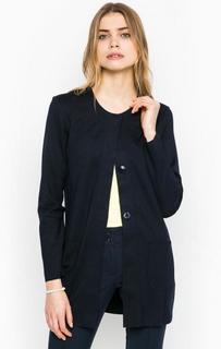 Темно-синее пальто на кнопках More & More