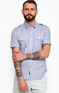 Синяя рубашка в горошек Replay