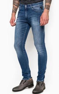 Синие джинсы скинни Replay