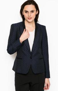 Синий пиджак из хлопка Trussardi Jeans